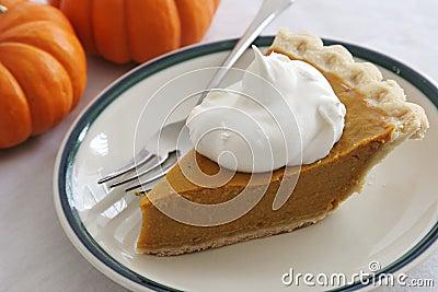 Pumpkin Pie Slice With Fork