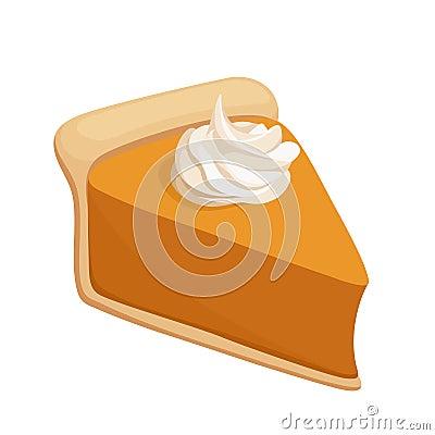 Free Pumpkin Pie Slice. Vector Stock Photo - 35100980