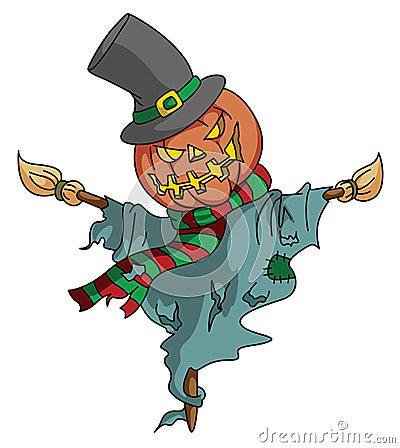 Free Pumpkin Scarecrow Royalty Free Stock Photo - 47879535