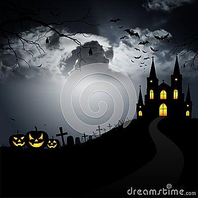 Pumpkin, scary monster on Halloween