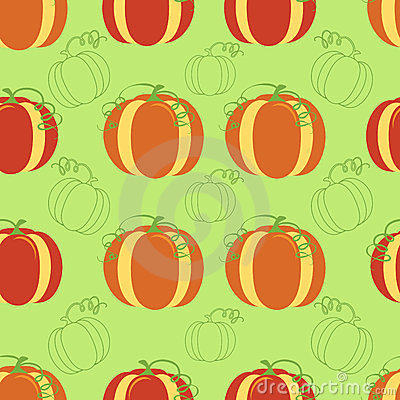 Pumpkin seamless background