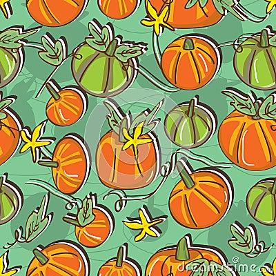 Free Pumpkin Seamless Pattern_eps Stock Photos - 35836253