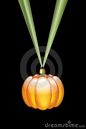 Pumpkin shaped bauble