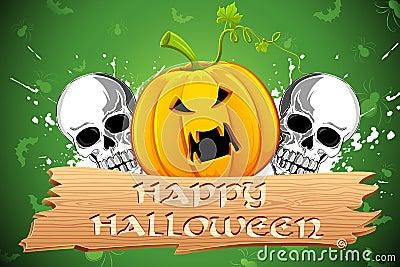 Pumpkin and Skull