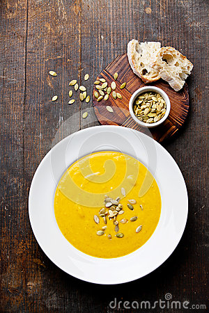 Free Pumpkin Soup Stock Images - 35115124