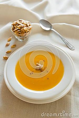 Pumpkin soup diner