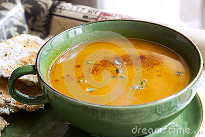 Pumpkin Soup with Paprika and Thyme