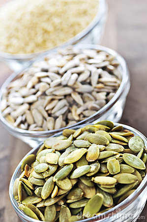 Free Pumpkin Sunflower And Sesame Seeds Royalty Free Stock Image - 9262586