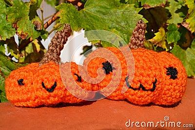 Pumpkins amigurumi crochet toy