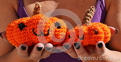 Pumpkins amigurumi crochet toys