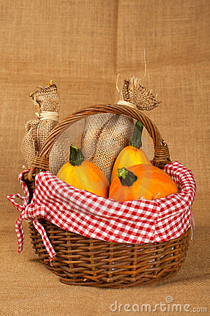 Pumpkins in the basket