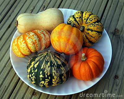 Pumpkins on a plate