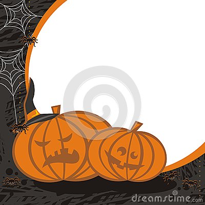 Pumpkins and spiders