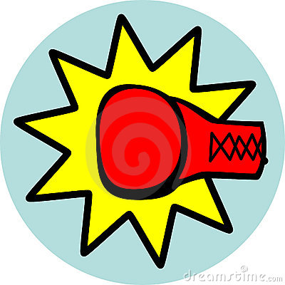 punching box glove vector illustration