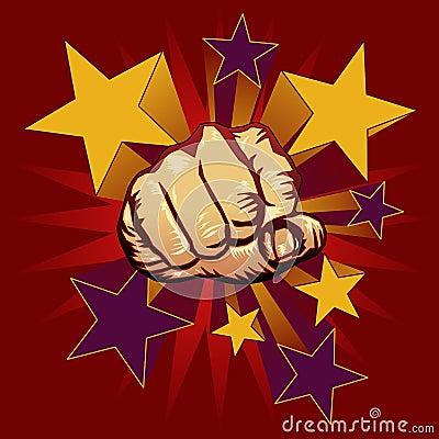 Punching fist illustration