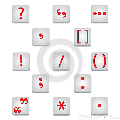 Punctuation marks icons