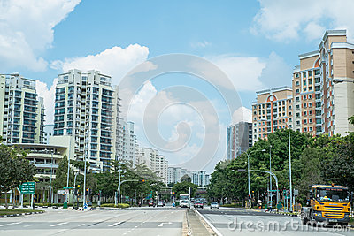 Punggol Road, Singapore Editorial Image