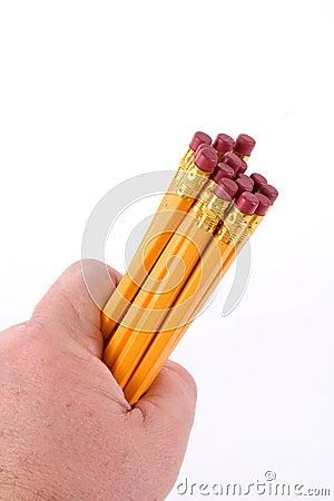 Punhado dos lápis