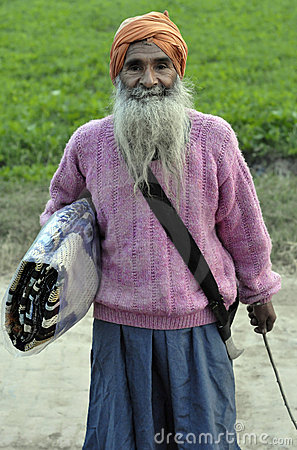 Punjabi indian old man