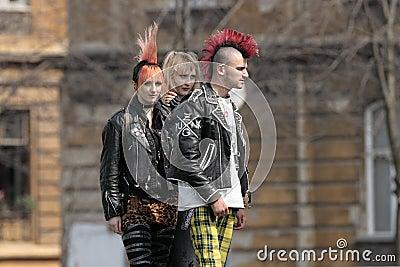 Punk fashion Editorial Stock Photo