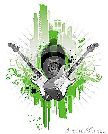 Free Punk Gorilla Royalty Free Stock Photos - 4830538