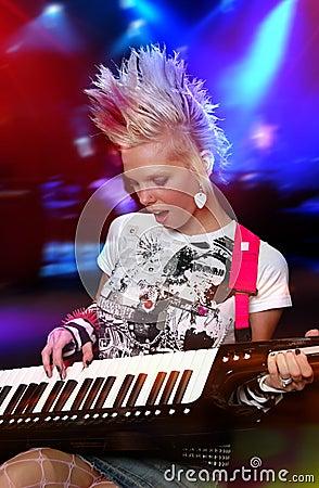 Free Punk Musician Royalty Free Stock Image - 3256276