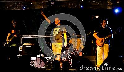 Punk-rock band A-MORAL Editorial Stock Photo