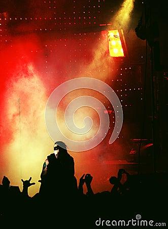 punk-rock concert