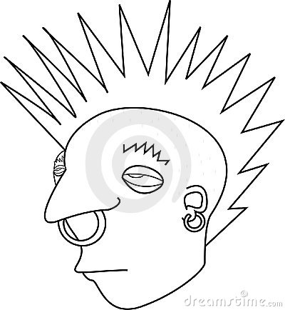 Punk Rock Mohawk Rebel