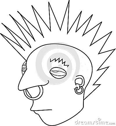 Punk Rock Mohawk Rebel