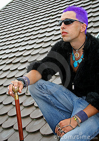 Punk on roof