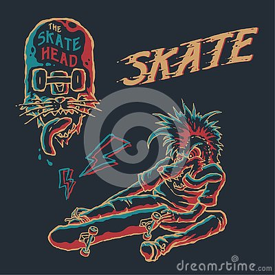 Free Punk Skate Element Vector Art Stock Images - 144898044