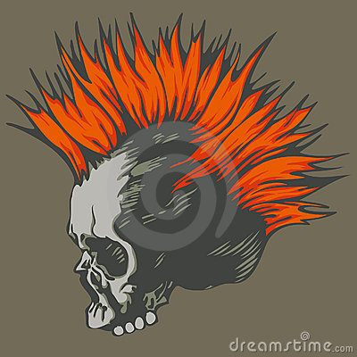 Free Punk Skull Stock Photography - 12160672