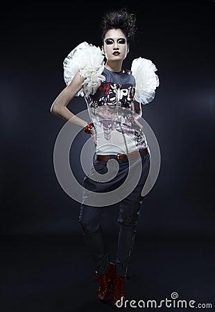 Punk woman