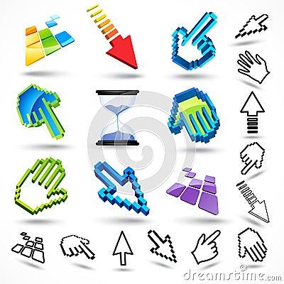 Puntatori del mouse comuni fotografia stock libera da - Immagine del mouse a colori ...
