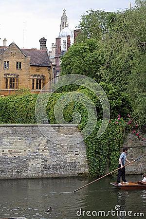 Punting at Cambridge Universit