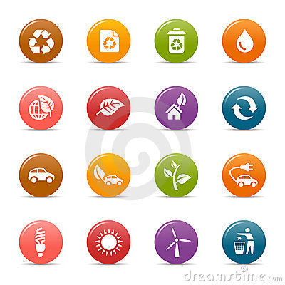 Puntos coloreados - iconos ecológicos