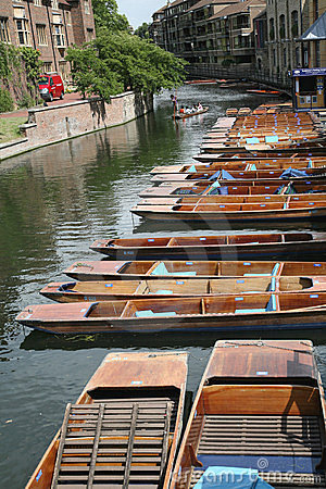 Punts at Cambridge University Editorial Photography