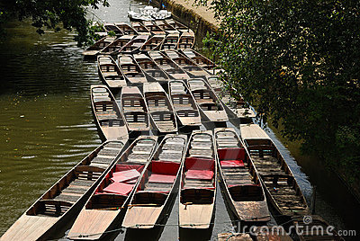 Punts on the Oxford canal
