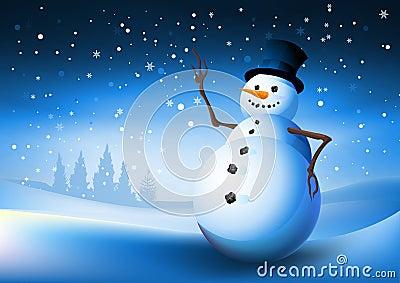 Pupazzo di neve di inverno