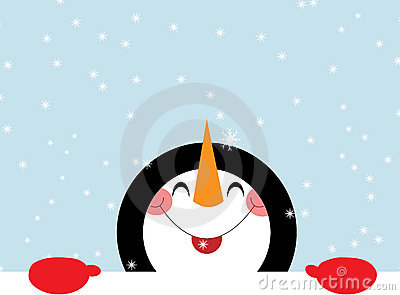 Pupazzo di neve felice