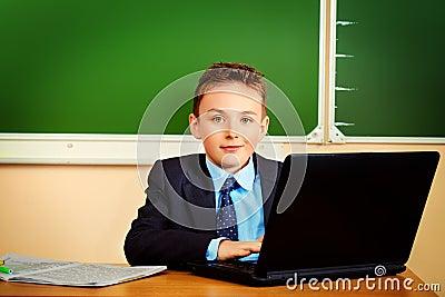 Pupil at classroom