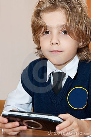 Pupil with electronic game
