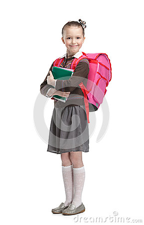 Free Pupil With Copybooks Stock Photography - 29528962