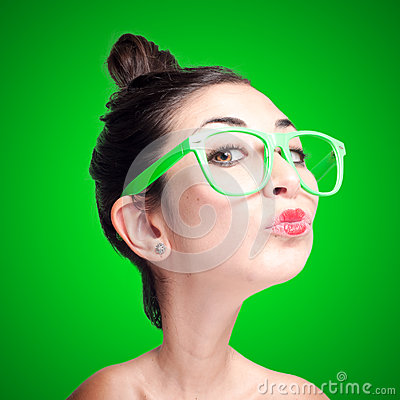 Free Puppet Girl With Big Head Stock Photography - 29010442