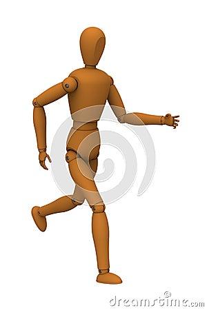 Puppet robot running