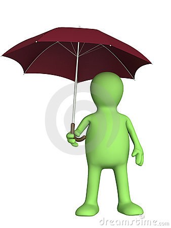 Free Puppet With Umbrella Royalty Free Stock Photography - 15619117