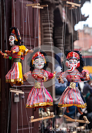 Free Puppets At Nepal Market Stock Image - 45812961
