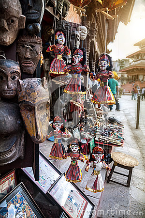Free Puppets At Nepali Market Royalty Free Stock Photography - 46670947