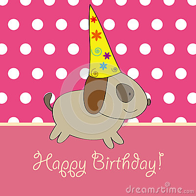 Puppy birthday card design